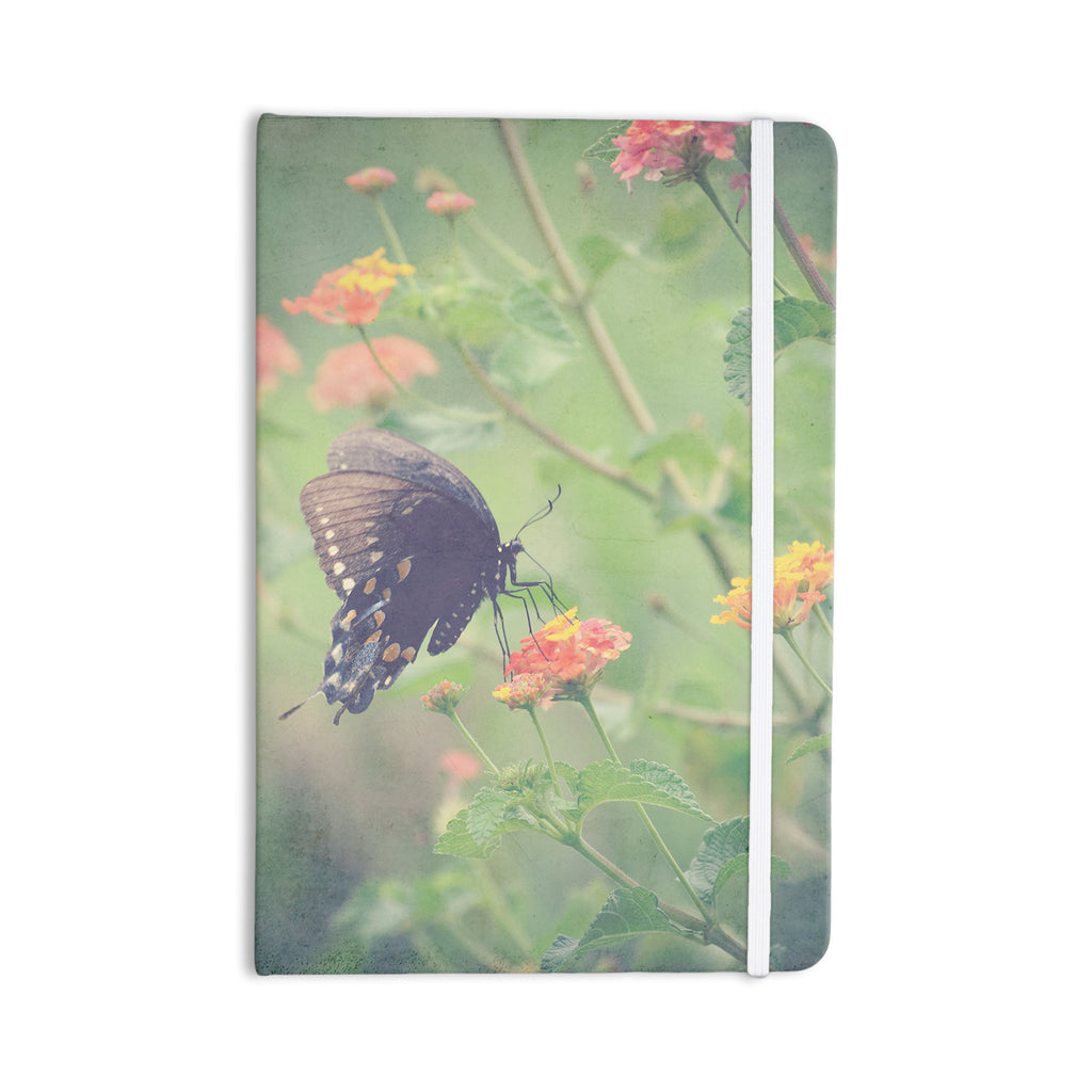 "Robin Dickinson ""Captivating II"" Green Flower Everything Notebook - KESS InHouse  - 1"