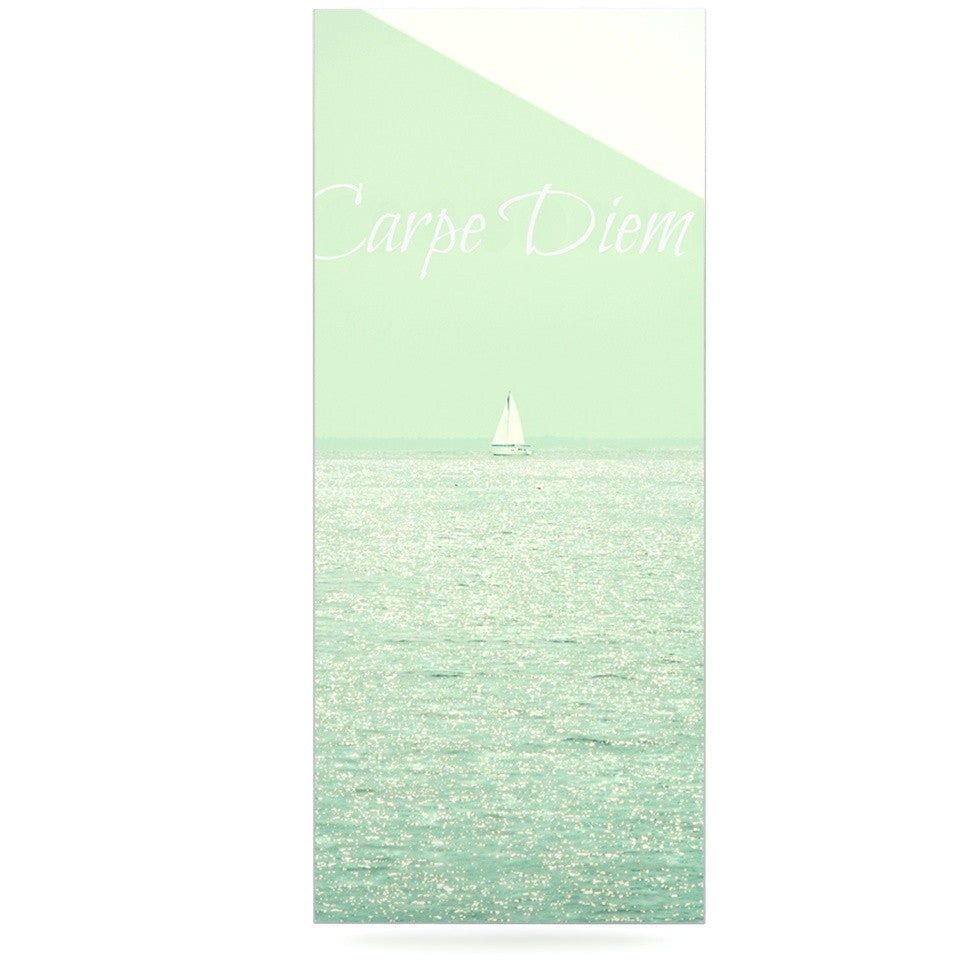 "Robin Dickinson ""Carpe Diem"" Teal Ocean Luxe Rectangle Panel - KESS InHouse  - 1"