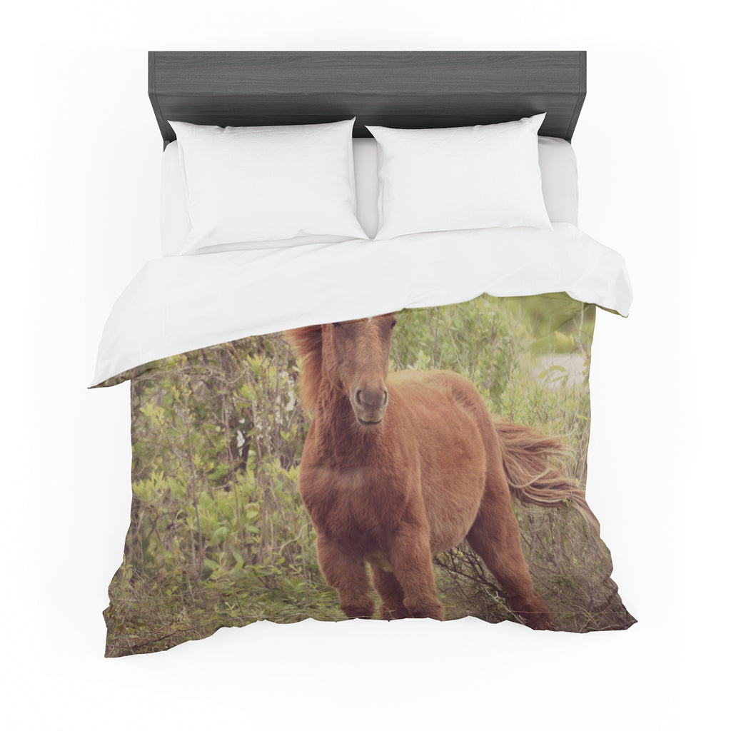 "Robin Dickinson ""Confuscous"" Brown Green Cotton Duvet"