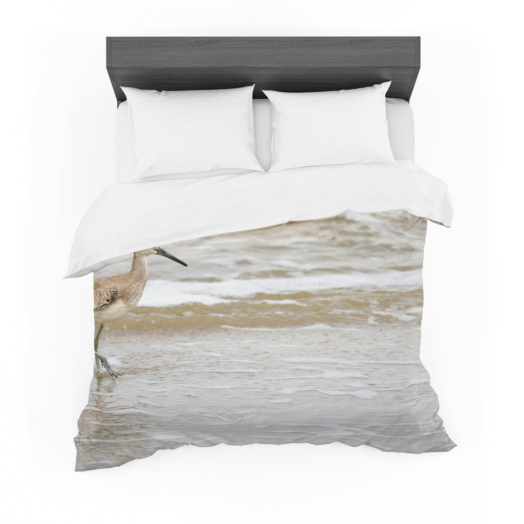 "Robin Dickinson ""Counting the Waves"" Brown White Cotton Duvet"