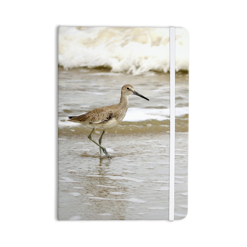 "Robin Dickinson ""Counting the Waves"" Brown White Everything Notebook - KESS InHouse  - 1"