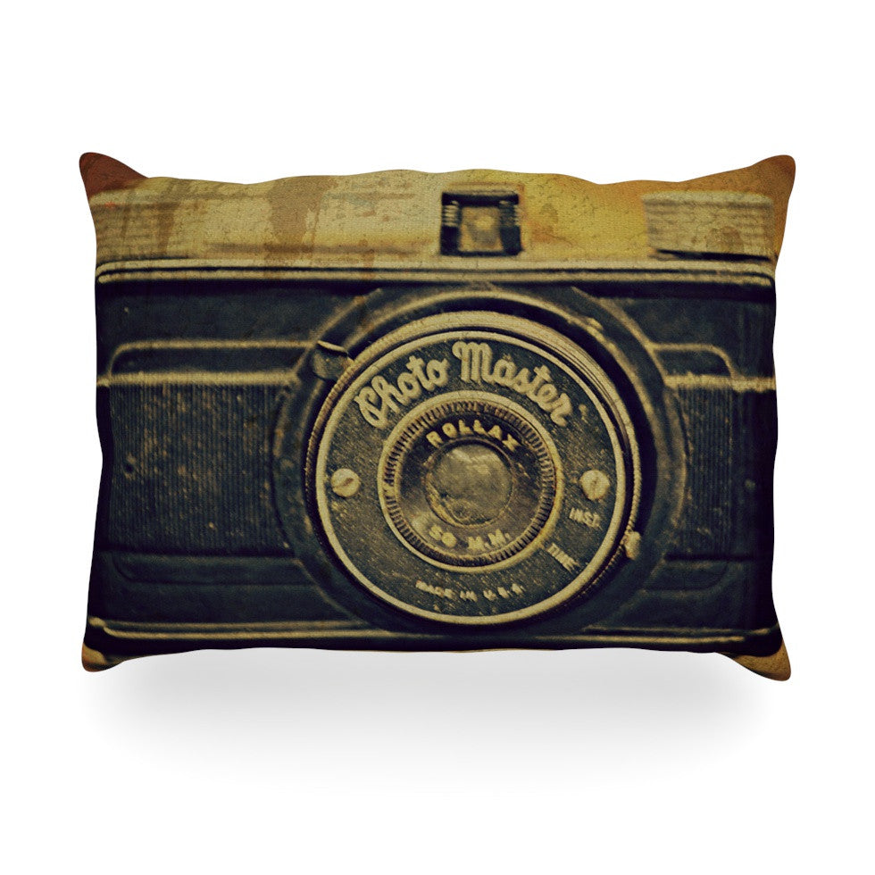 "Robin Dickinson ""Discarded Treasure"" Vintage Camera Oblong Pillow - KESS InHouse"