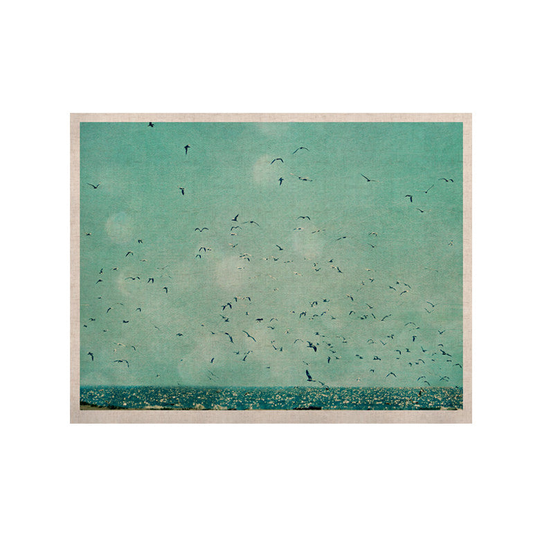 "Robin Dickinson ""Down by the Sea"" Blue Green KESS Naturals Canvas (Frame not Included) - KESS InHouse  - 1"