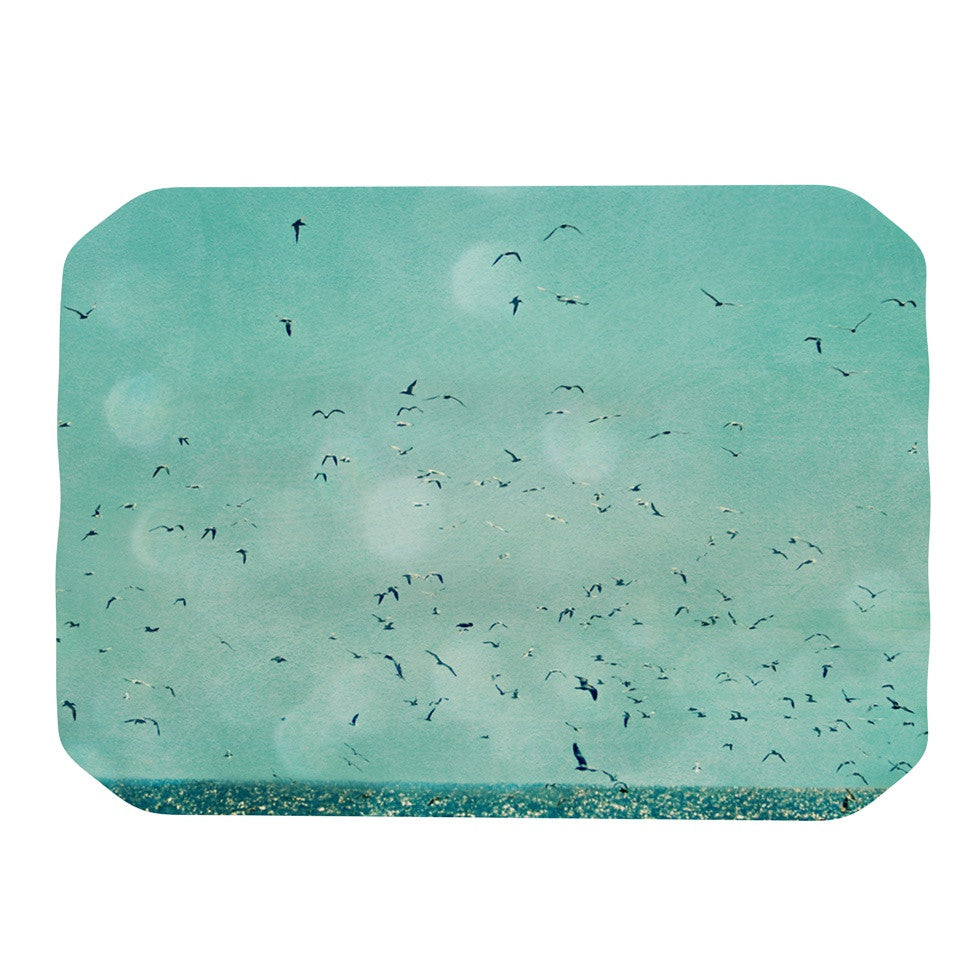 "Robin Dickinson ""Down by the Sea"" Blue Green Place Mat - KESS InHouse"