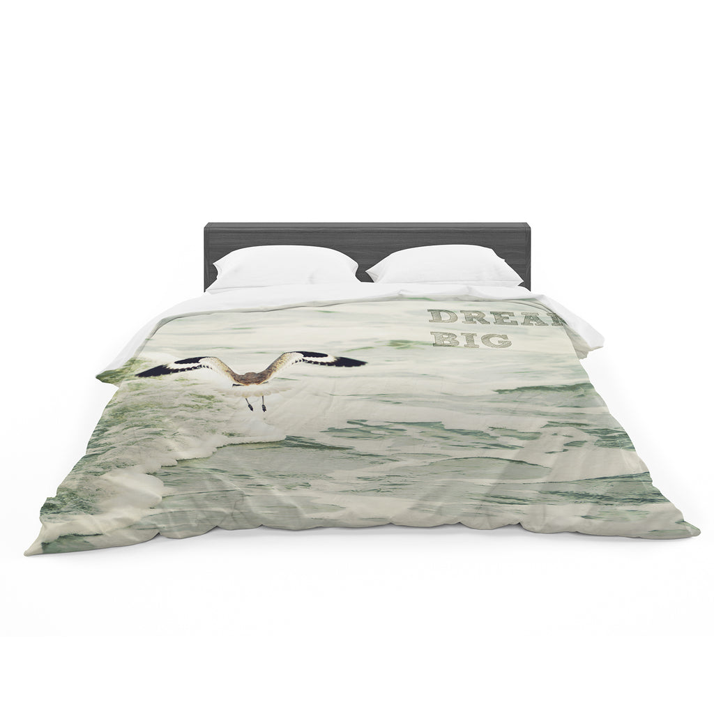 "Robin Dickinson ""Dream Big"" Ocean Bird Cotton Duvet"
