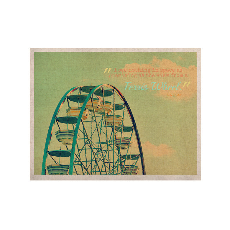 "Robin Dickinson ""Ferris Wheel"" Green Yellow KESS Naturals Canvas (Frame not Included) - KESS InHouse  - 1"