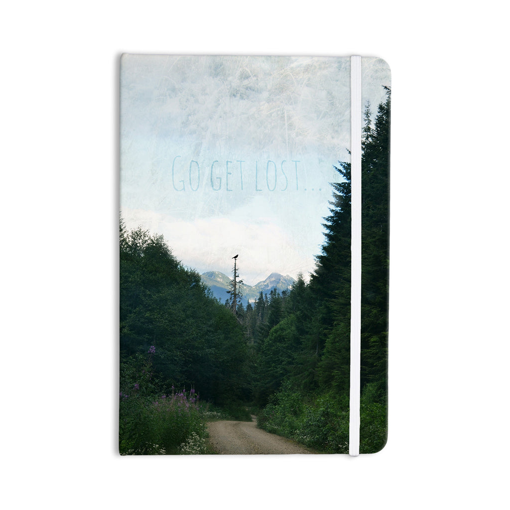 "Robin Dickinson ""Go Get Lost"" Forest Green Everything Notebook - KESS InHouse  - 1"