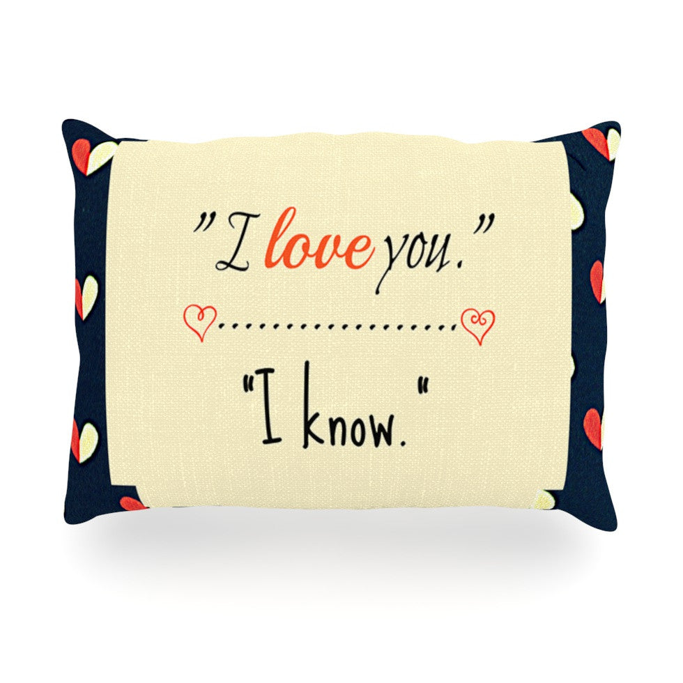 "Robin Dickinson ""I Know"" Navy Blue Oblong Pillow - KESS InHouse"