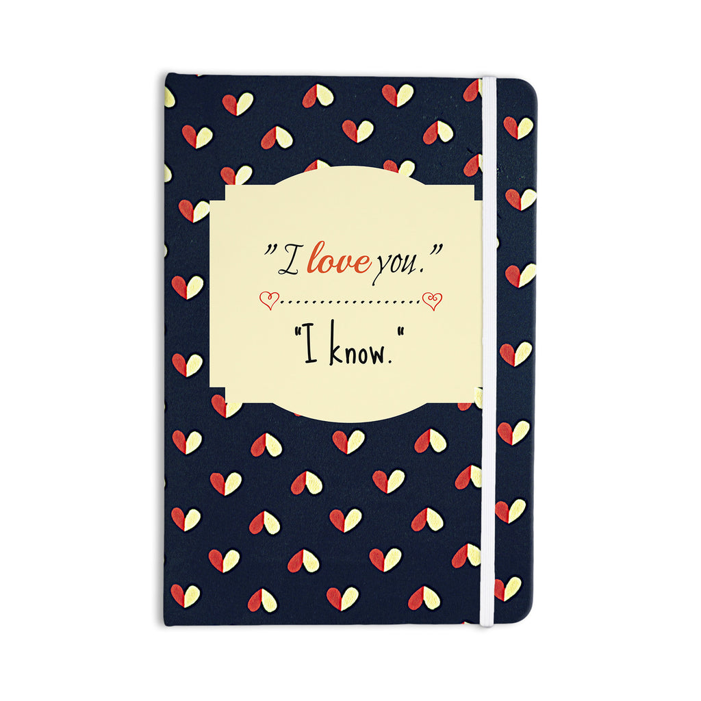 "Robin Dickinson ""I Know"" Navy Blue Everything Notebook - KESS InHouse  - 1"