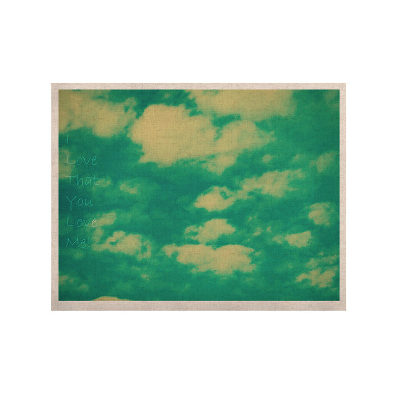 "Robin Dickinson ""I love that you love me"" Green Blue KESS Naturals Canvas (Frame not Included) - KESS InHouse  - 1"