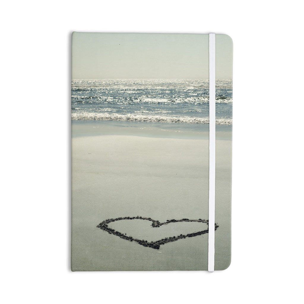"Robin Dickinson ""I Love The Beach"" Ocean Sand Everything Notebook - KESS InHouse  - 1"