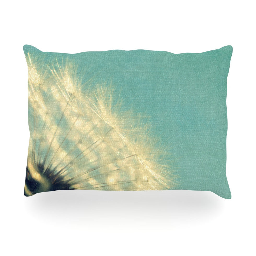 "Robin Dickinson ""Just Dandy"" Blue White Oblong Pillow - KESS InHouse"