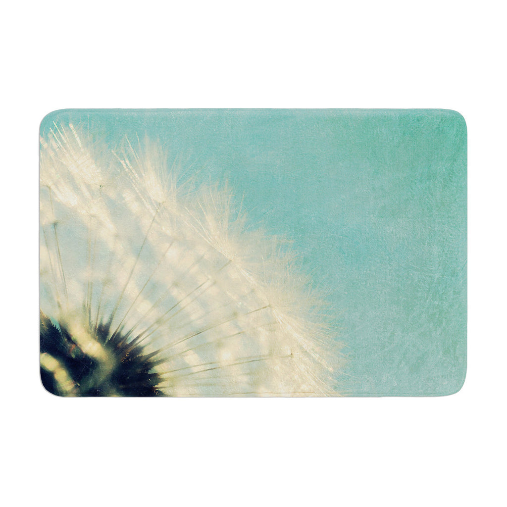 "Robin Dickinson ""Just Dandy"" Blue White Memory Foam Bath Mat - KESS InHouse"