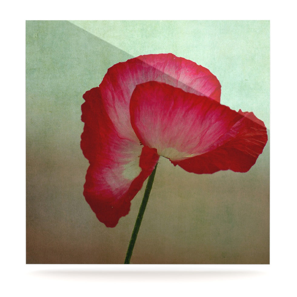 "Robin Dickinson ""La Te Da"" Magenta Poppies Luxe Square Panel - KESS InHouse  - 1"