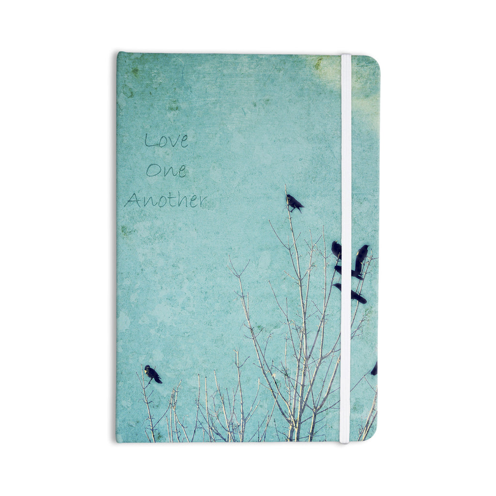 "Robin Dickinson ""Love One Another"" Blue Birds Everything Notebook - KESS InHouse  - 1"