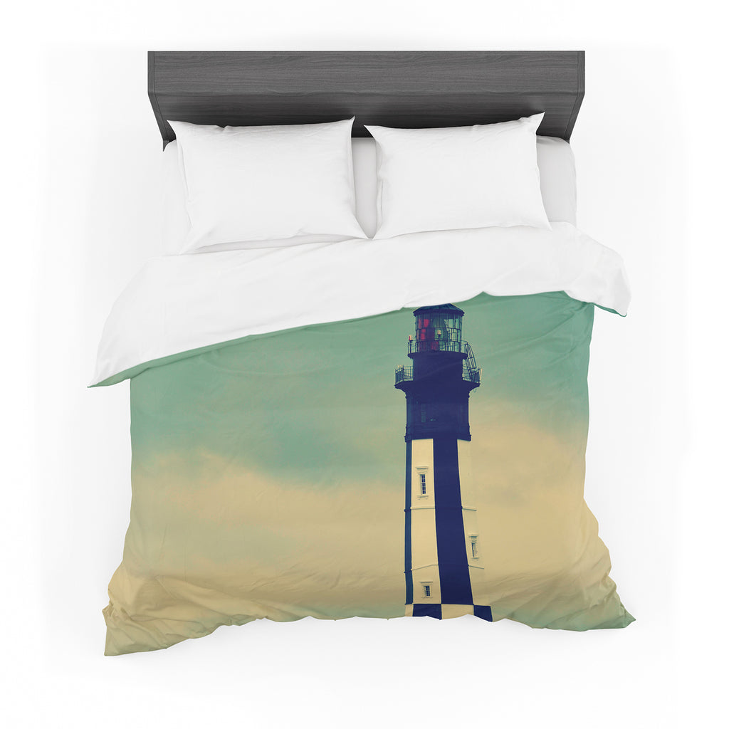 "Robin Dickinson ""New Cape Henry"" Lighthouse Cotton Duvet"