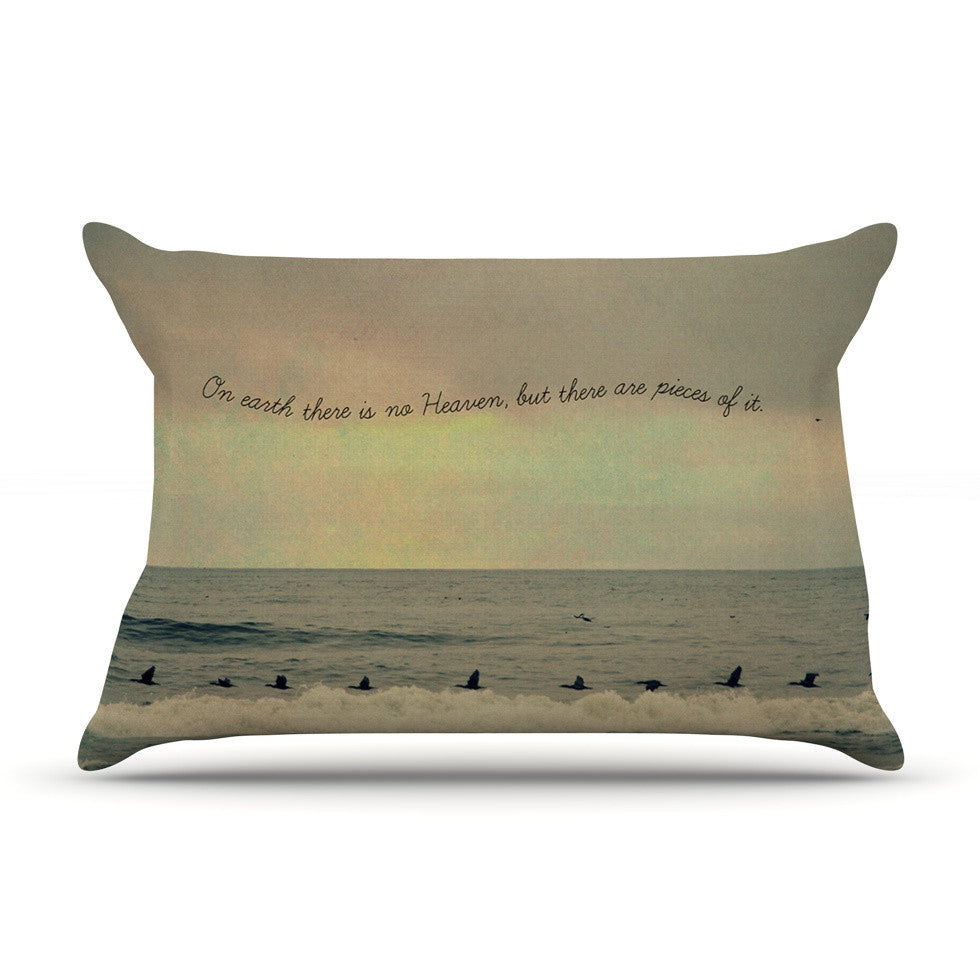 "Robin Dickinson ""Pieces of Heaven"" Tan Beach Pillow Sham - KESS InHouse"