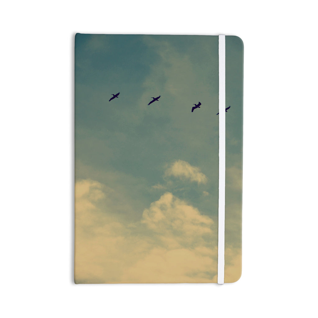 "Robin Dickinson ""Pterodactyls"" Blue Tan Everything Notebook - KESS InHouse  - 1"