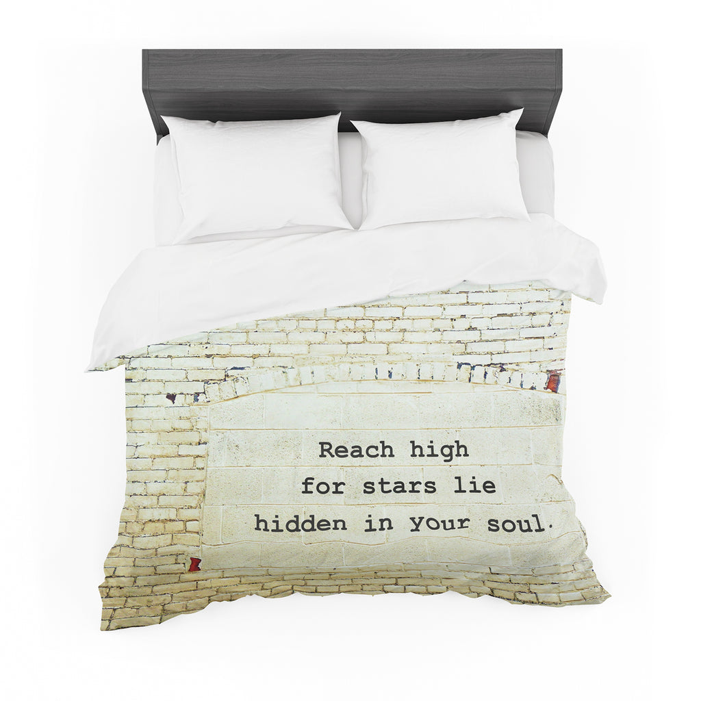 "Robin Dickinson ""Reach High"" Brick Wall Cotton Duvet"