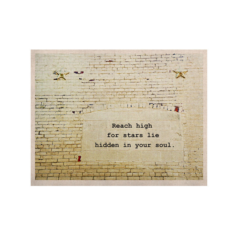 "Robin Dickinson ""Reach High"" Brick Wall KESS Naturals Canvas (Frame not Included) - KESS InHouse  - 1"
