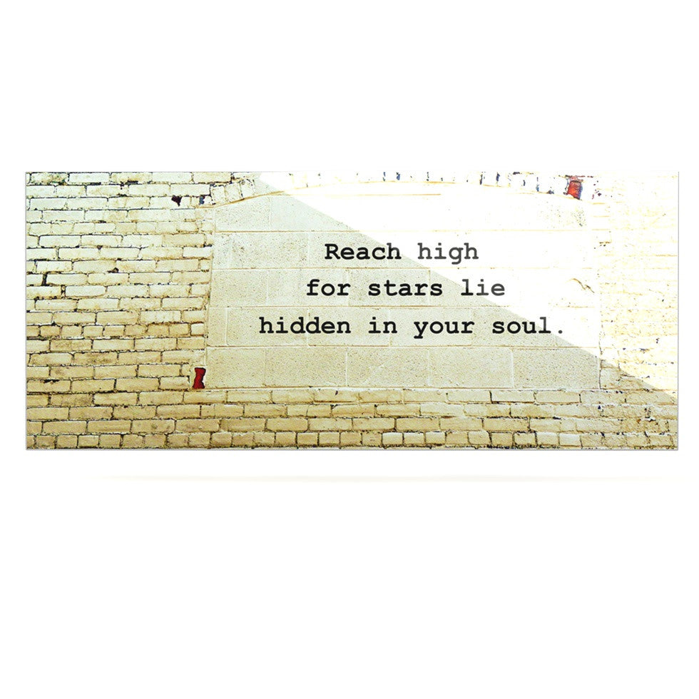 "Robin Dickinson ""Reach High"" Brick Wall Luxe Rectangle Panel - KESS InHouse  - 1"