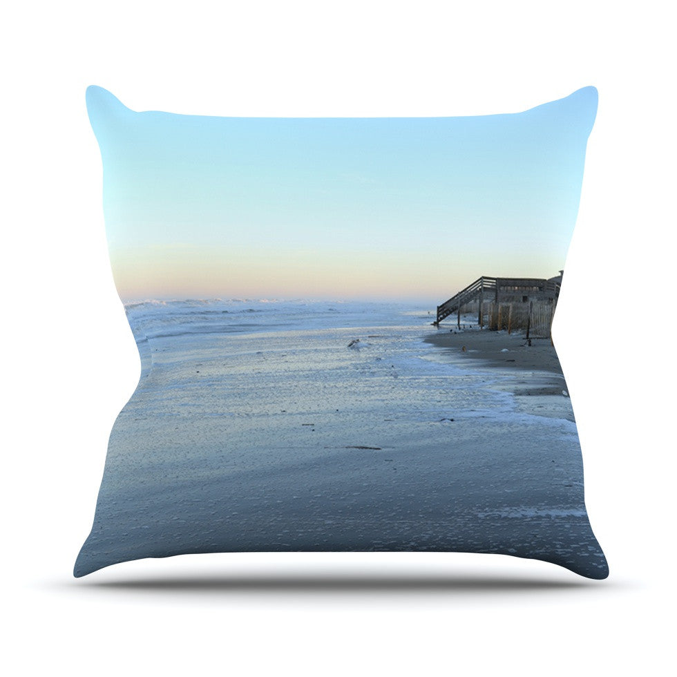 "Robin Dickinson ""Sand Surf Sunshine"" Beach Outdoor Throw Pillow - KESS InHouse  - 1"