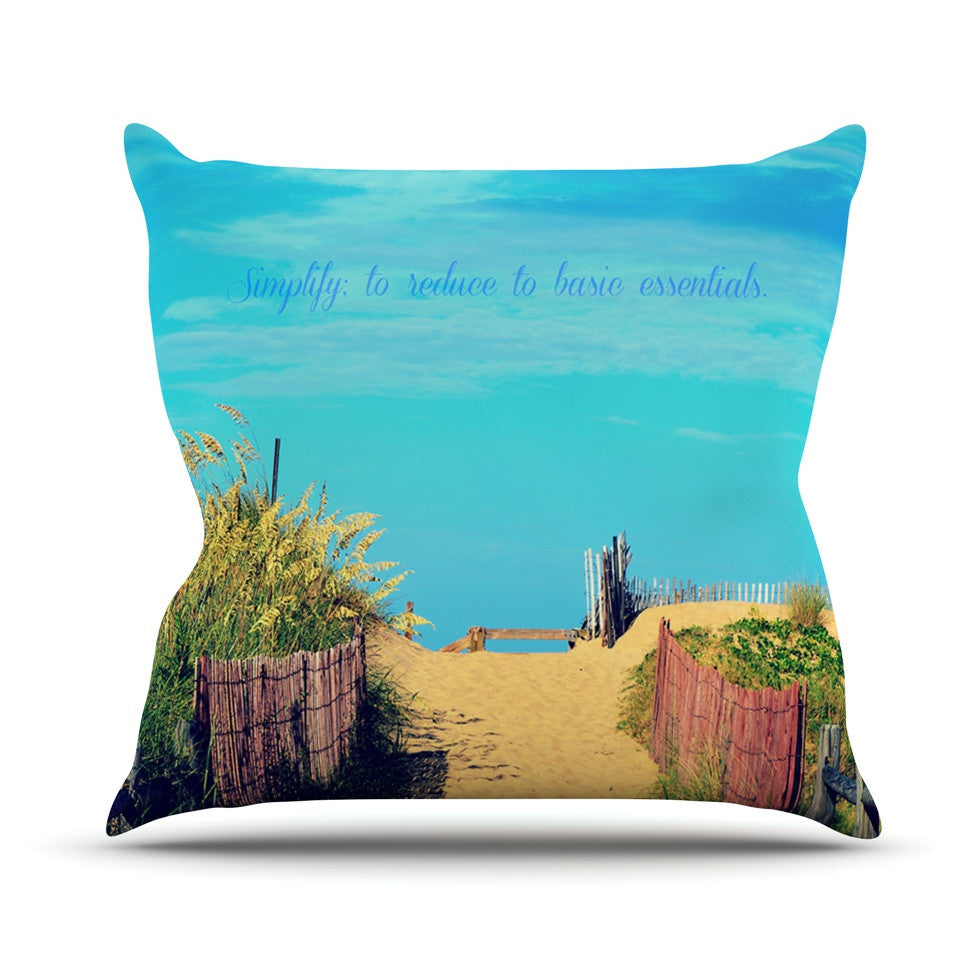 "Robin Dickinson ""Simplify"" Beach Sky Throw Pillow - KESS InHouse  - 1"