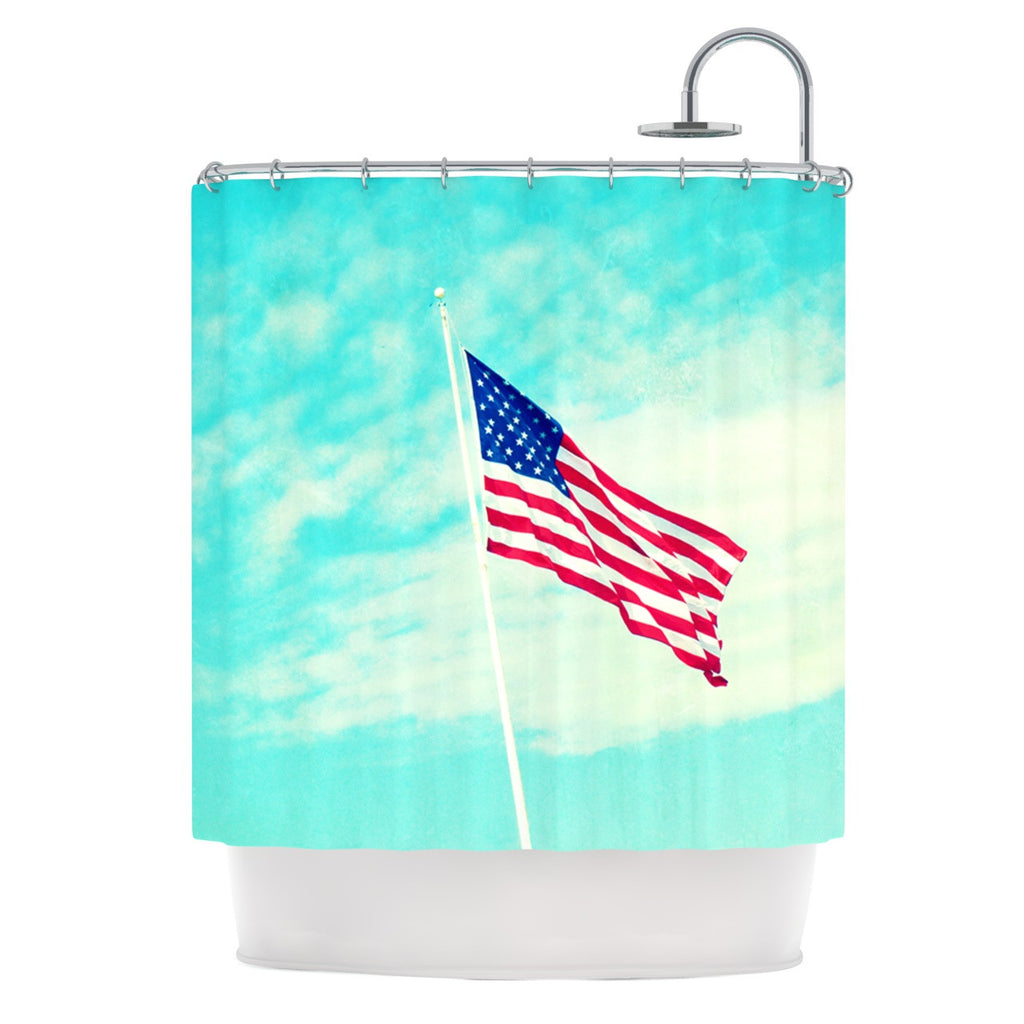 "Robin Dickinson ""USA Colors"" Flag Shower Curtain - KESS InHouse"