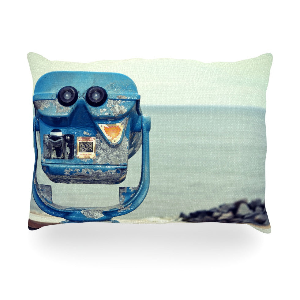 "Robin Dickinson ""Way Out There"" Ocean Oblong Pillow - KESS InHouse"