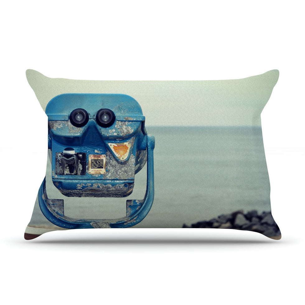 "Robin Dickinson ""Way Out There"" Ocean Pillow Sham - KESS InHouse"