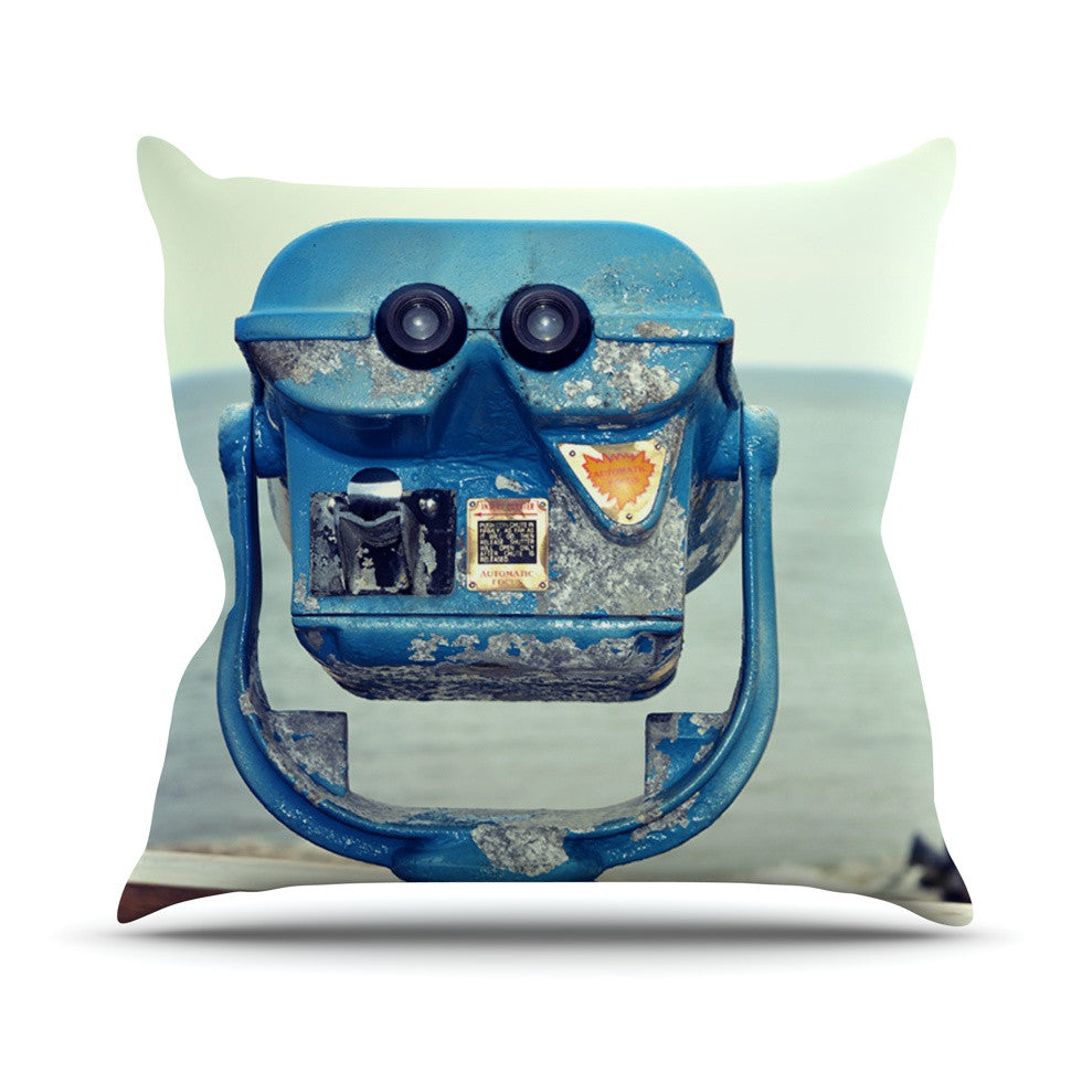 "Robin Dickinson ""Way Out There"" Ocean Outdoor Throw Pillow - KESS InHouse  - 1"