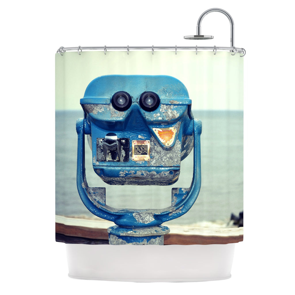 "Robin Dickinson ""Way Out There"" Ocean Shower Curtain - KESS InHouse"