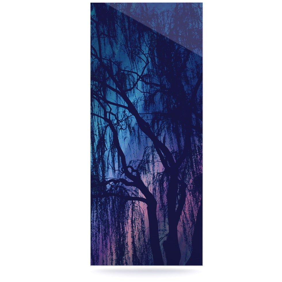 "Robin Dickinson ""Weeping"" Purple Tree Luxe Rectangle Panel - KESS InHouse  - 1"
