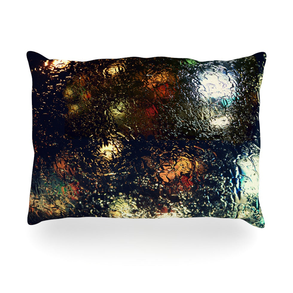 "Robin Dickinson ""Blinded"" Water Black Oblong Pillow - KESS InHouse"