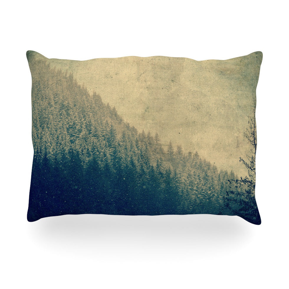 "Robin Dickinson ""Any Road Will Do"" Mountain Tree Oblong Pillow - KESS InHouse"