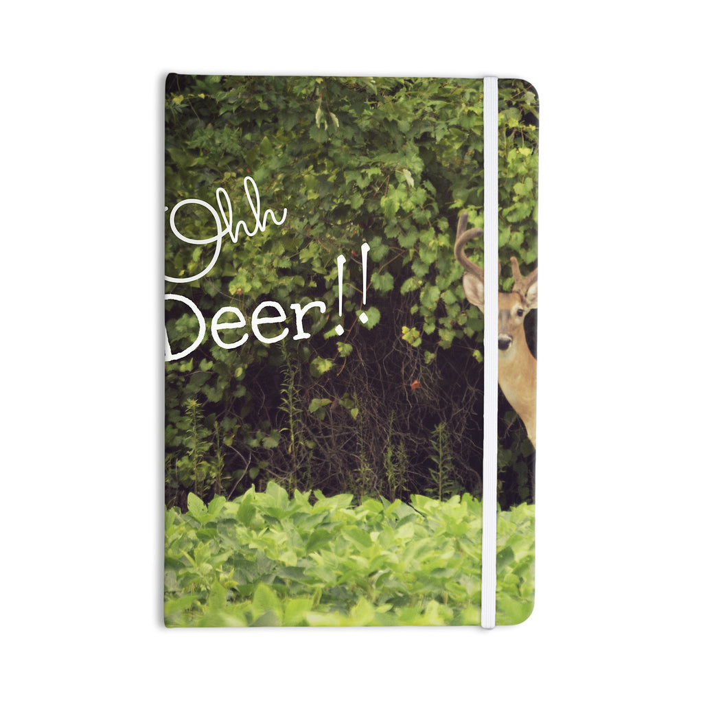 "Robin Dickinson ""Ohh Deer"" Green Brown Everything Notebook - KESS InHouse  - 1"