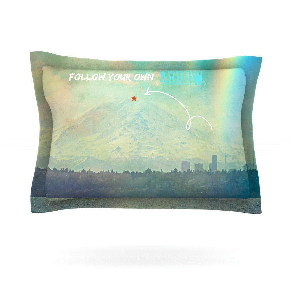 "Robin Dickinson ""Follow Your Own Arrow"" City Landscape Pillow Sham - KESS InHouse  - 1"