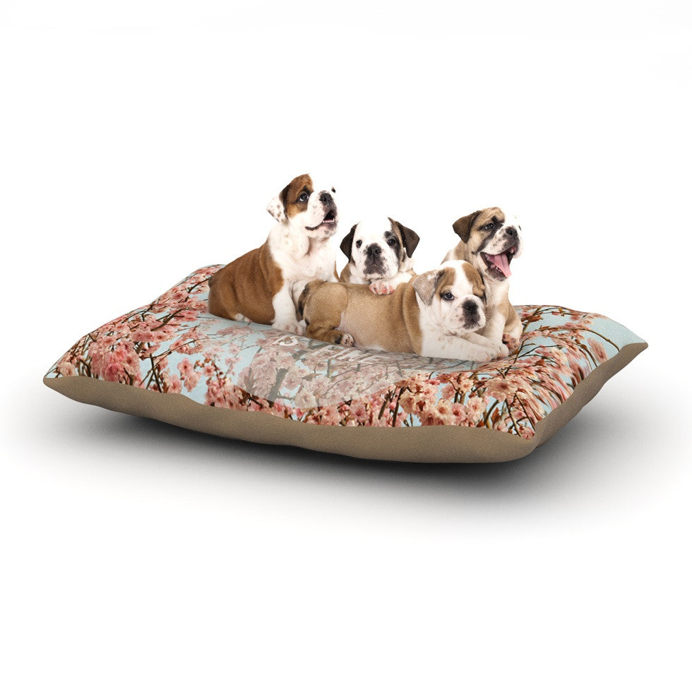 "Robin Dickinson ""In Heaven"" Cherry Blossom Dog Bed - KESS InHouse  - 1"
