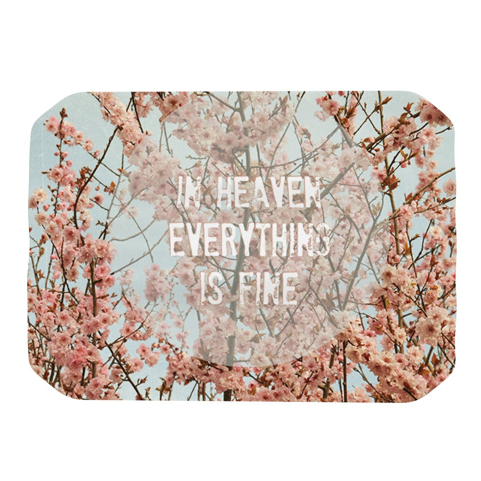 "Robin Dickinson ""In Heaven"" Cherry Blossom Place Mat - KESS InHouse"