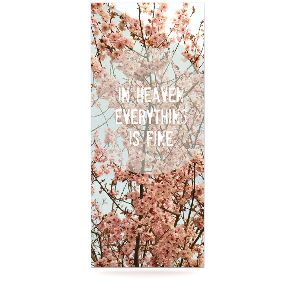 "Robin Dickinson ""In Heaven"" Cherry Blossom Luxe Rectangle Panel - KESS InHouse  - 1"