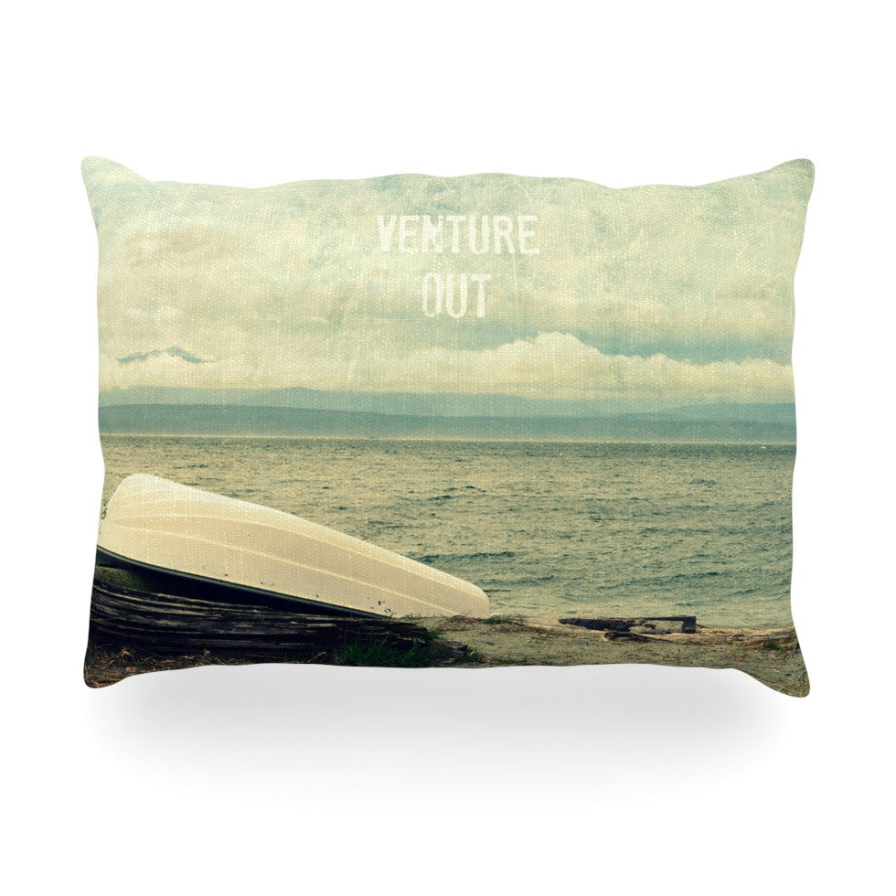 "Robin Dickinson ""Venture Out"" Boat Oblong Pillow - KESS InHouse"