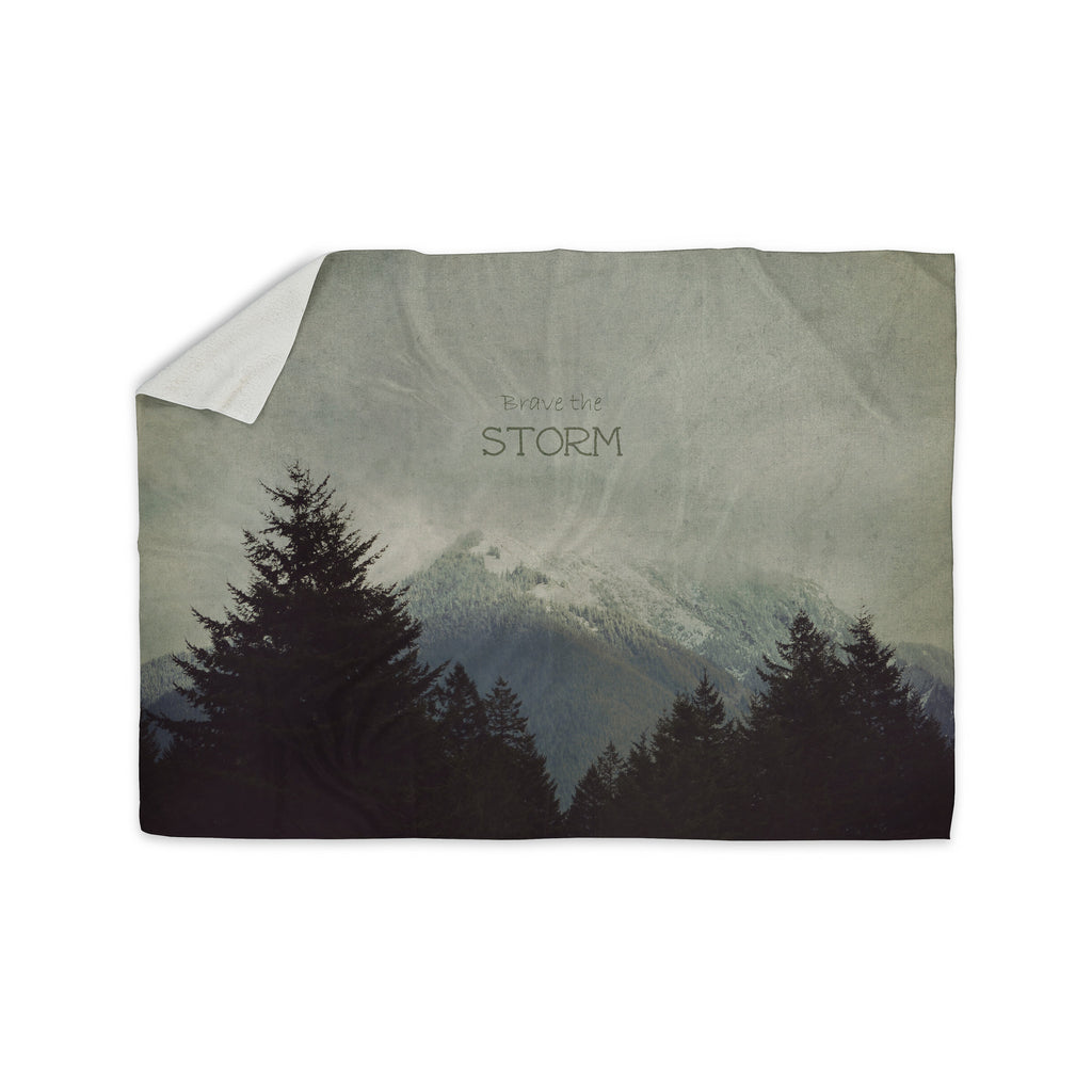 "Robin Dickinson ""Brave The Storm"" Snow Mountain Sherpa Blanket"