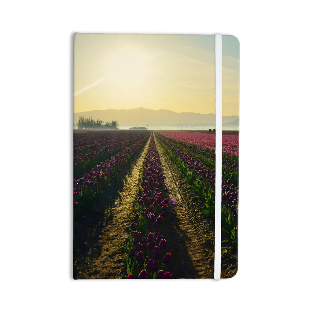 "Robin Dickinson ""Here Comes The Sun"" Flower Landscape Everything Notebook - KESS InHouse  - 1"
