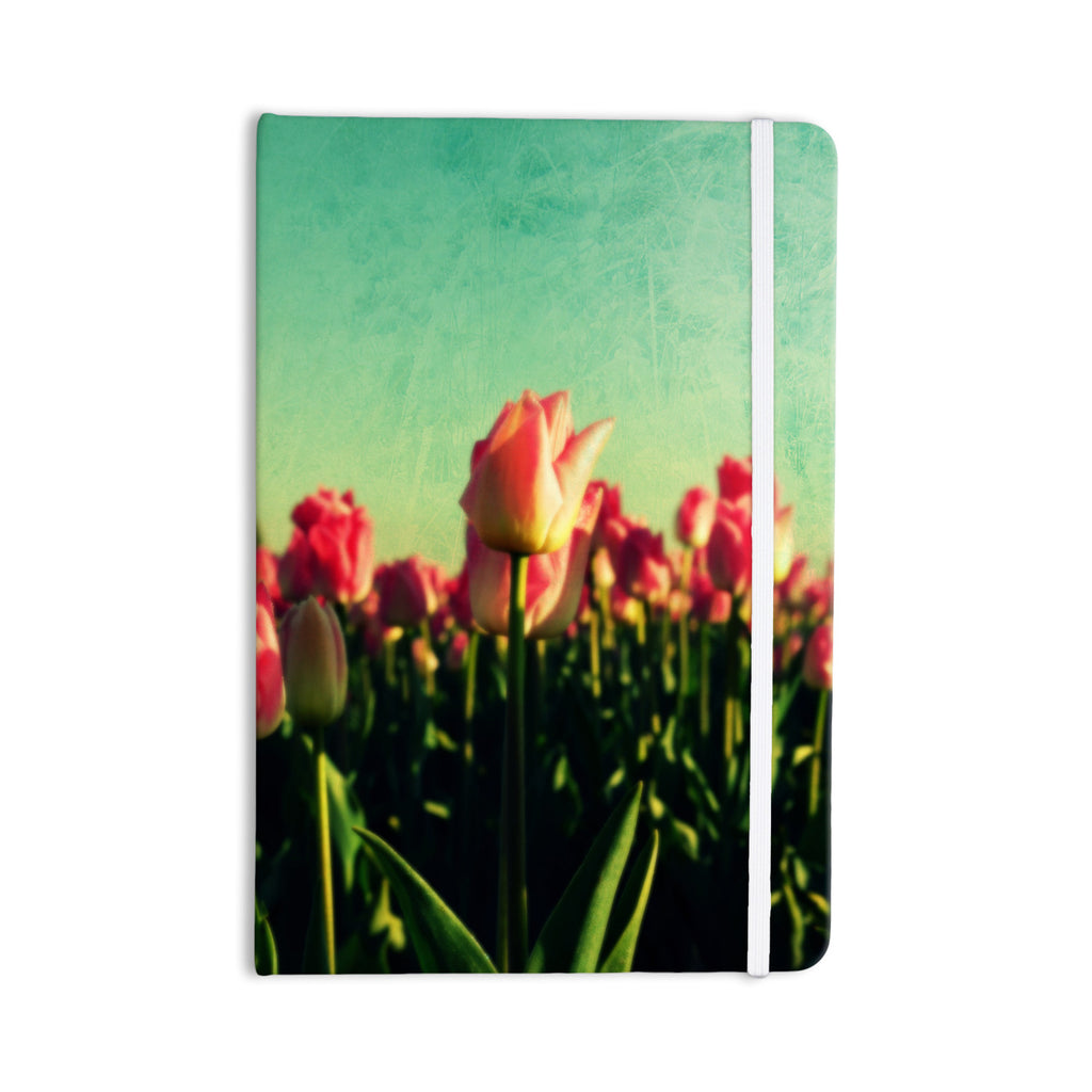 "Robin Dickinson ""How Does Your Garden Grow"" Pink Flowers Everything Notebook - KESS InHouse  - 1"