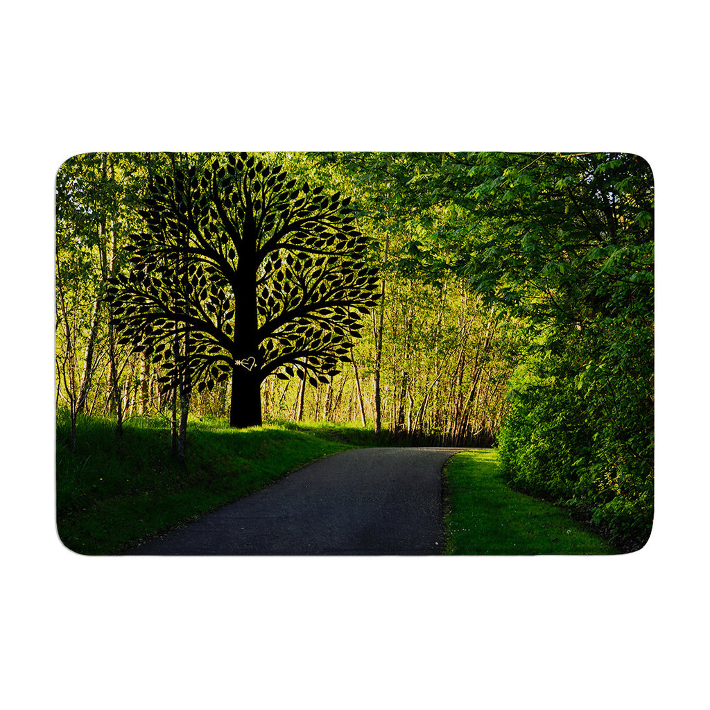 "Robin Dickinson ""Love Nature"" Forest Memory Foam Bath Mat - KESS InHouse"