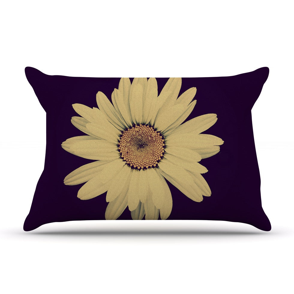 "Robin Dickinson ""Half Crazy"" Black Yellow Pillow Sham - KESS InHouse"