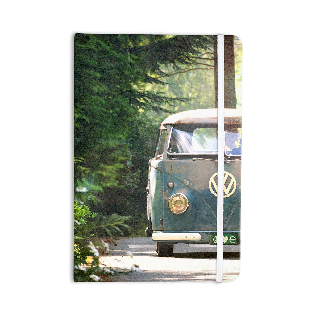 "Robin Dickinson ""Peace Love Nature"" Forest Everything Notebook - KESS InHouse  - 1"