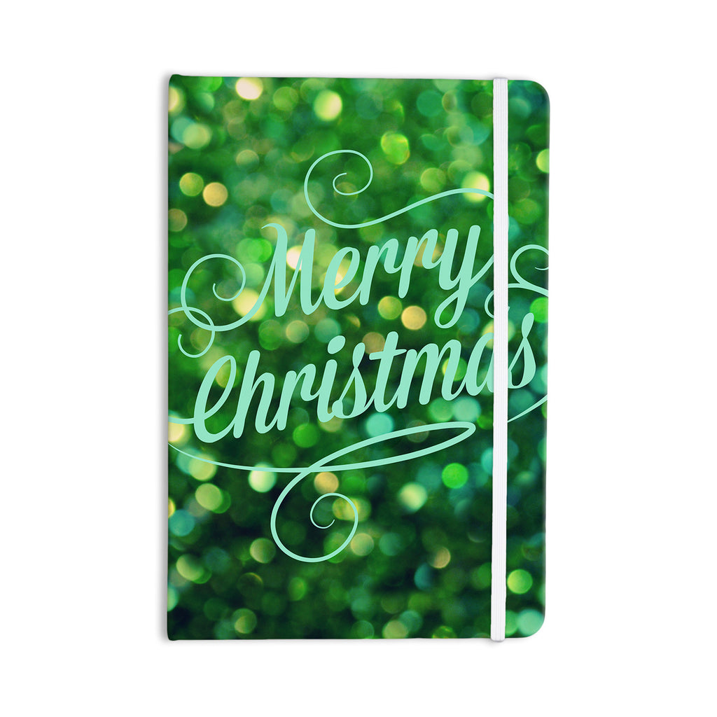 "Robin Dickinson ""Merry Christmas"" Green Everything Notebook - KESS InHouse  - 1"