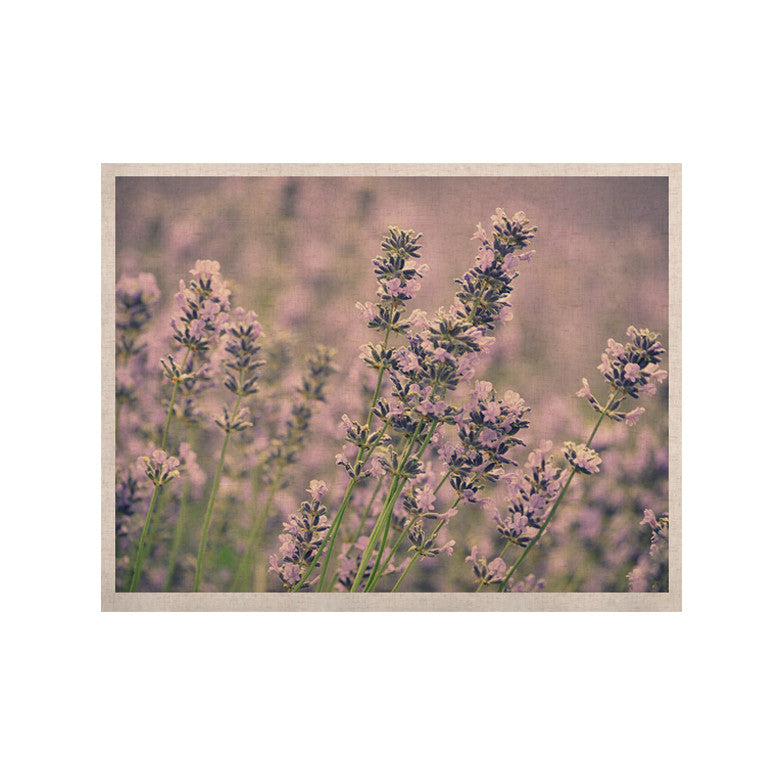 "Robin Dickinson ""Smell the Flowers"" Lavender Green KESS Naturals Canvas (Frame not Included) - KESS InHouse  - 1"