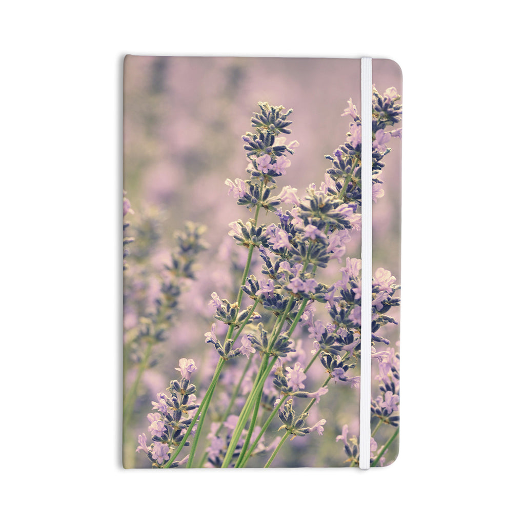 "Robin Dickinson ""Smell the Flowers"" Lavender Green Everything Notebook - KESS InHouse  - 1"